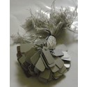 String Tags - PVC - Silver - 8x16mm