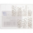 Assortment 144 round jump rings - Silver