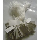 String Tags - PVC -WHITE - 8x20mm