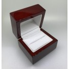 Wooden Ring Box - Mahogany - Ring Slot