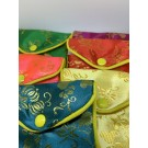 Chinese Zipper Pouch - Assorti Colors - Pack of 12pcs